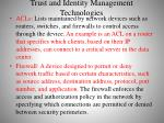 trust and identity management technologies