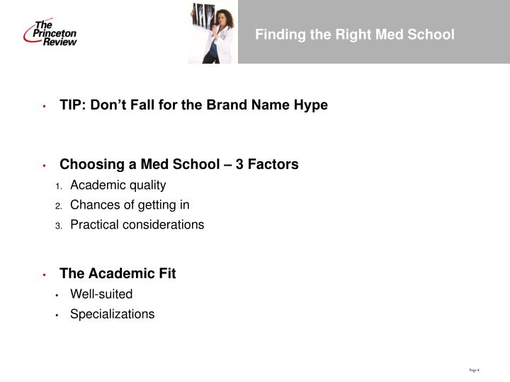 Finding the Right Med School