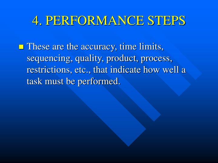 4. PERFORMANCE STEPS