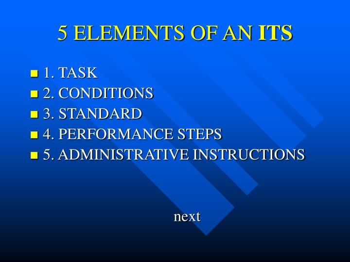 5 ELEMENTS OF AN