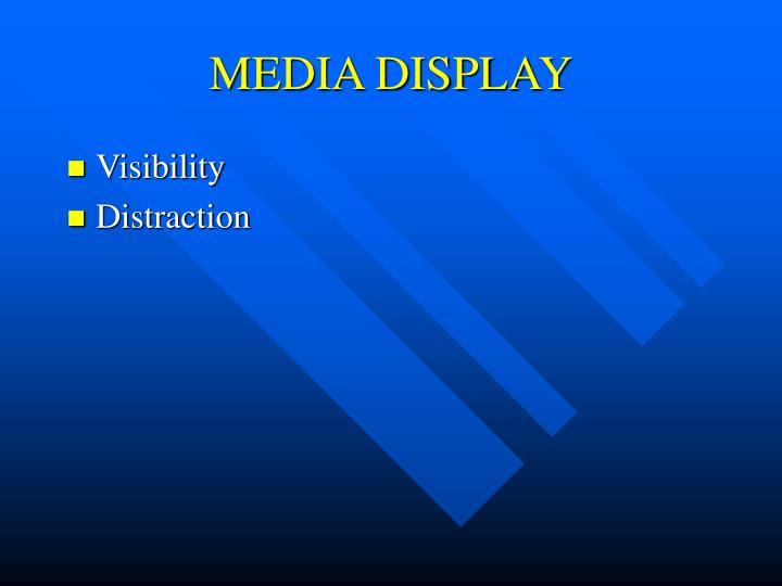 MEDIA DISPLAY