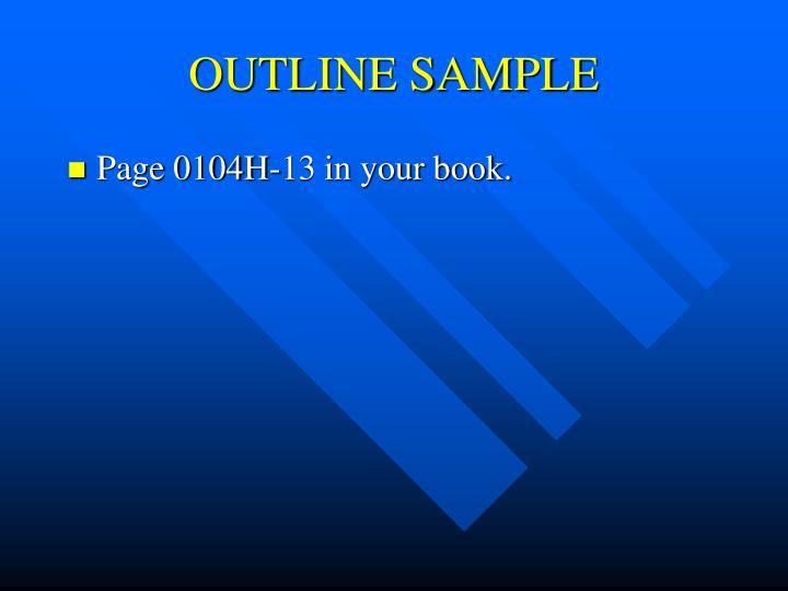 OUTLINE SAMPLE