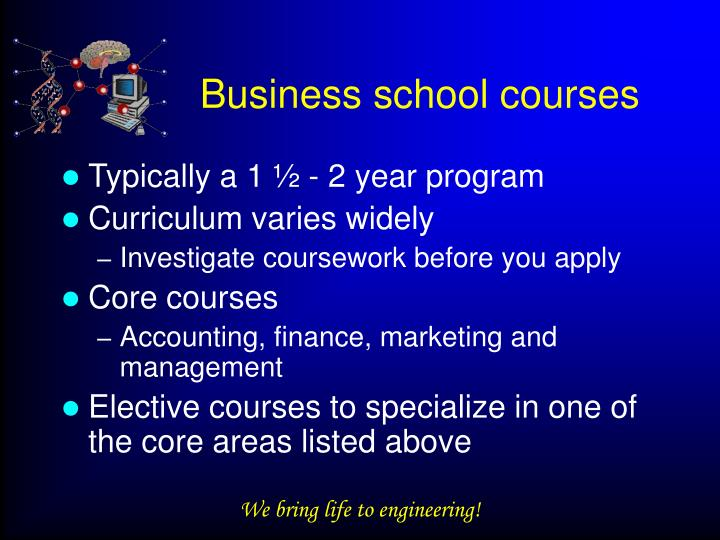 Business school courses