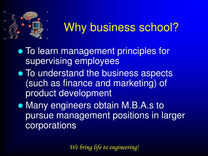 Why business school?