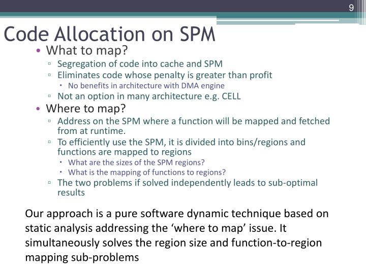 Code Allocation on SPM