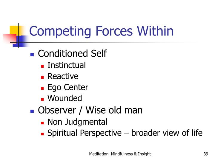 Competing Forces Within