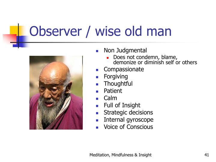 Observer / wise old man