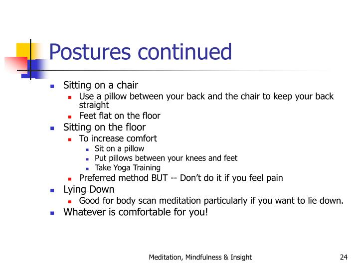 Postures continued