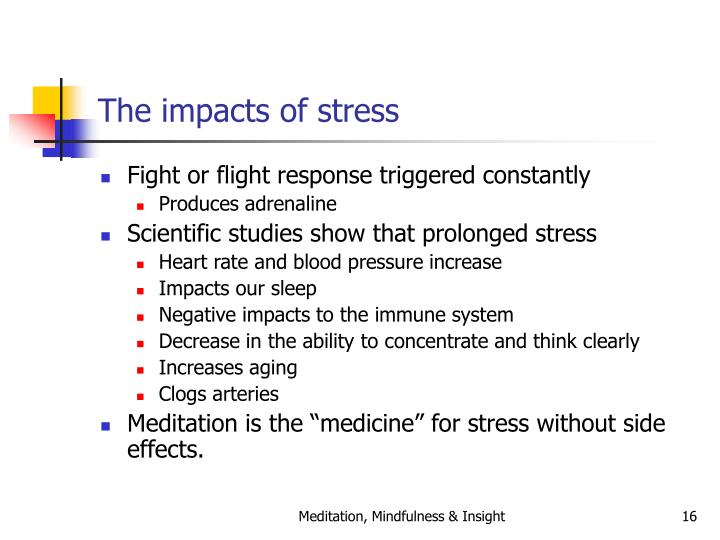 The impacts of stress