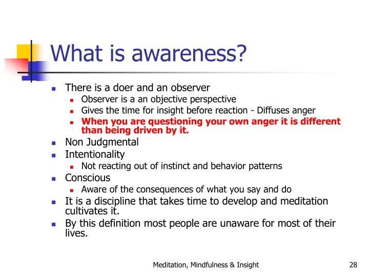 What is awareness?