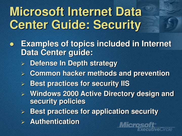 Microsoft Internet Data Center Guide: Security