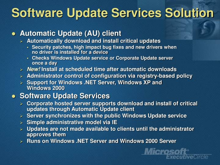 Software Update Services Solution