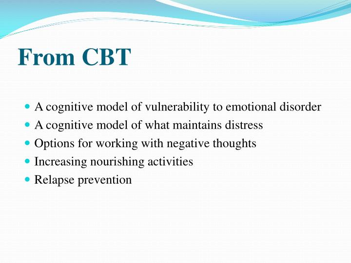 From CBT