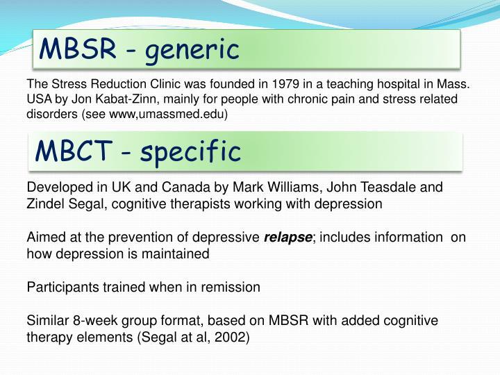 MBSR - generic