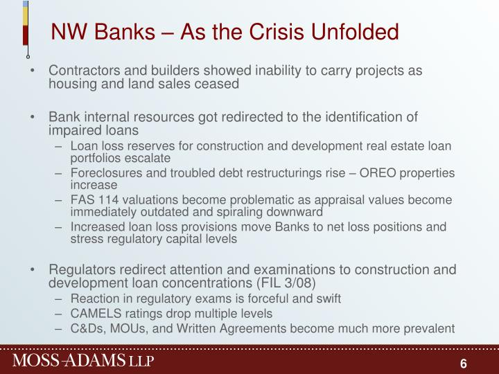 NW Banks – As the Crisis Unfolded