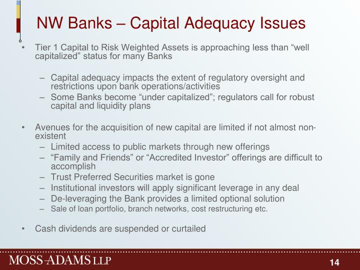NW Banks – Capital Adequacy Issues