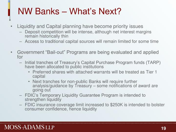 NW Banks – What's Next?