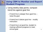 using cbm to monitor and report student progress