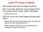 least privilege in qmail