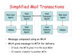 simplified mail transactions