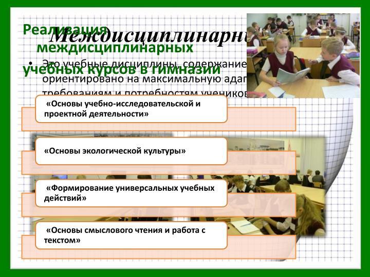 Междисциплинарные курсы