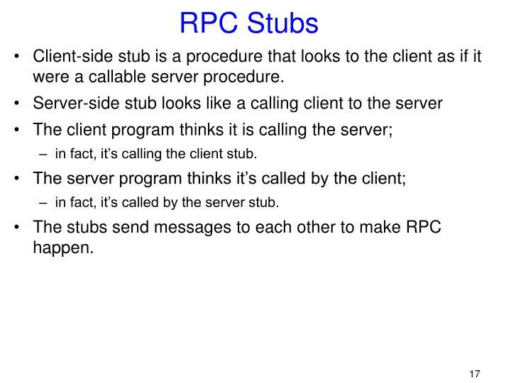 RPC Stubs