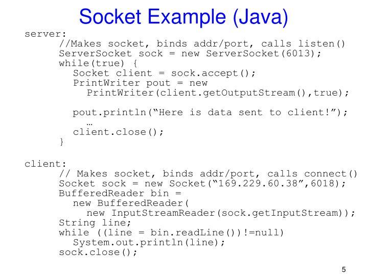 Socket Example (Java)