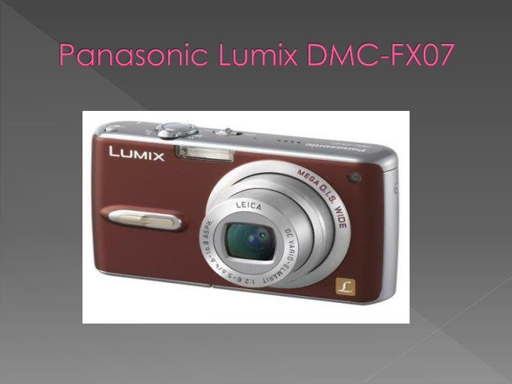 Panasonic lumix dmc fx071
