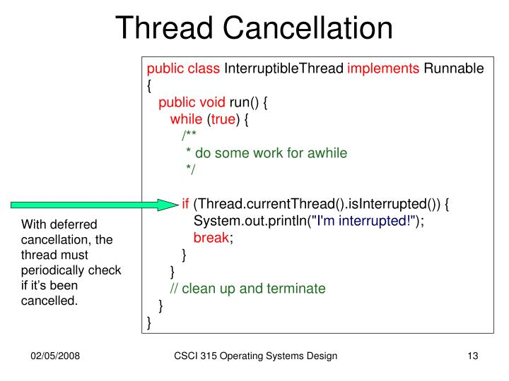 Thread Cancellation