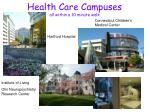 health care campuses all within a 10 minute walk
