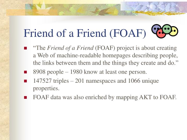 Friend of a friend foaf