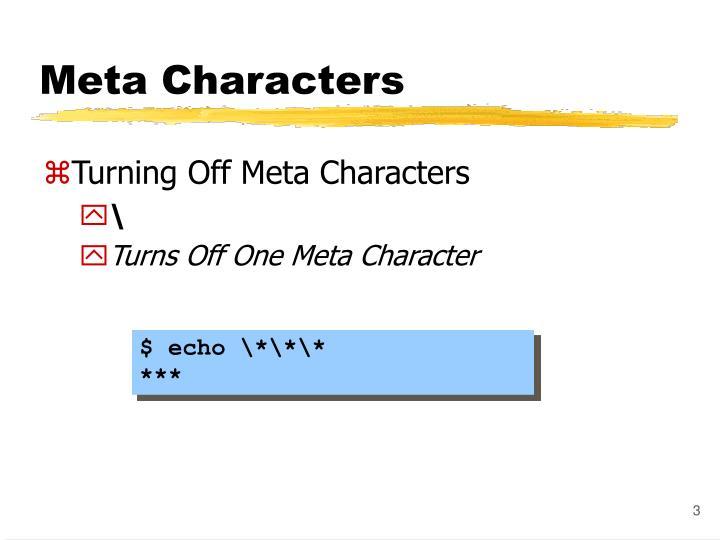 Meta characters1