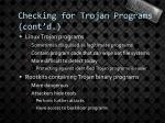 checking for trojan programs cont d