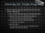 checking for trojan programs