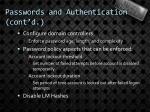 passwords and authentication cont d1