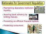 rationales for government regulation
