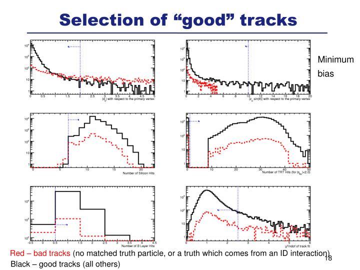 """Selection of """"good"""" tracks"""