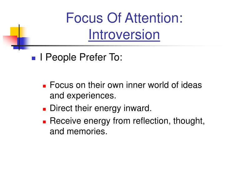 Focus Of Attention: