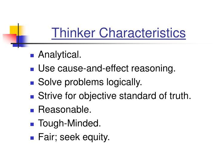 Thinker Characteristics