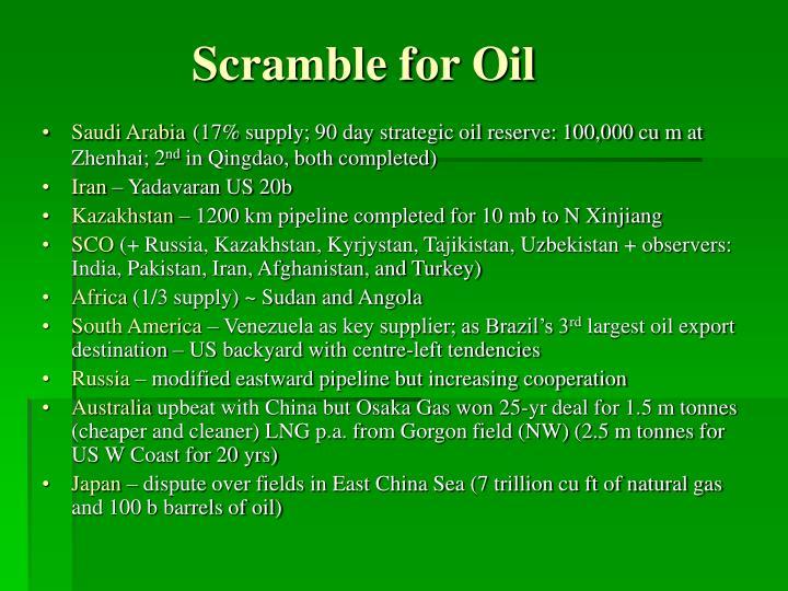 Scramble for oil