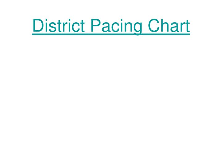 District Pacing Chart