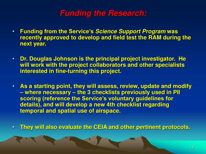 Funding the Research:
