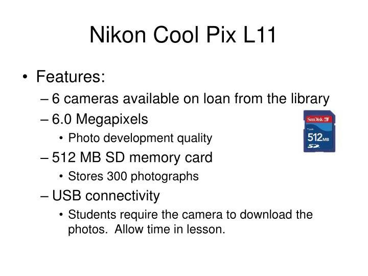 Nikon cool pix l111