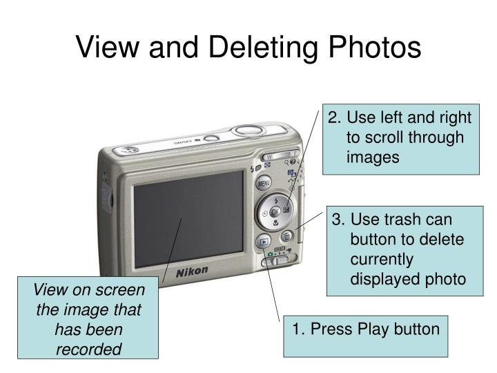 View and Deleting Photos
