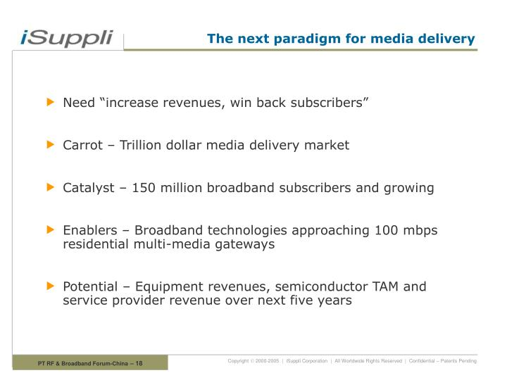 The next paradigm for media delivery