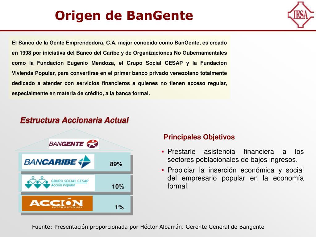 Ppt La Banca Y Las Mayorías En Venezuela Casos Bangente Y