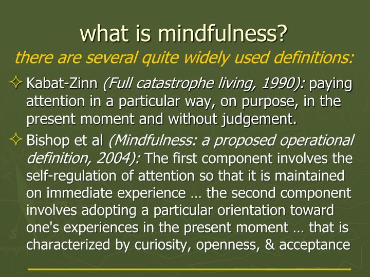 W hat is mindfulness