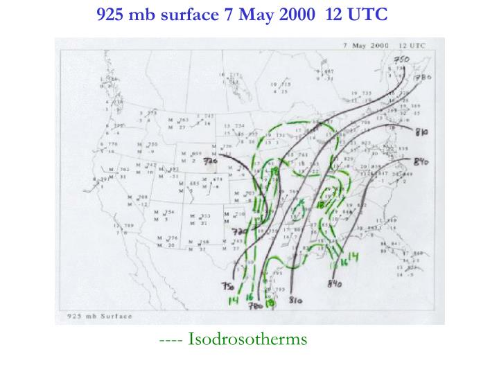 925 mb surface 7 May 2000  12 UTC