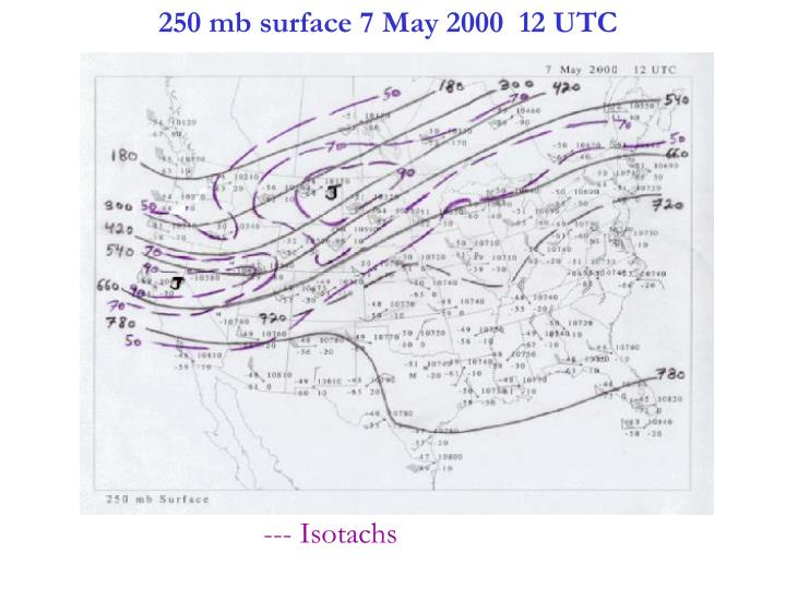 250 mb surface 7 May 2000  12 UTC