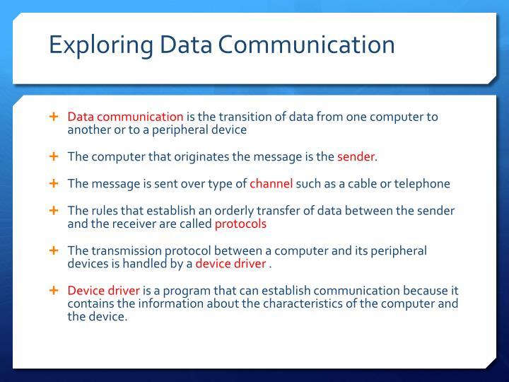 Exploring Data Communication